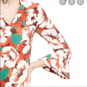 Draper James amaryllis bell sleeve dress